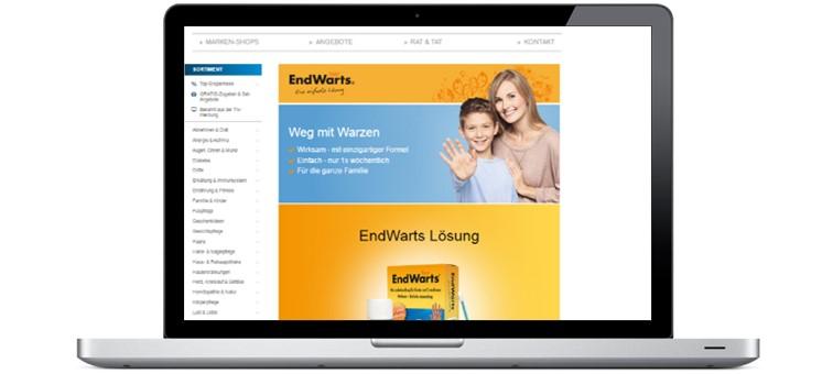 Produktvorschau Microsite EndWarts